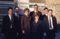 Republican presidential candidate Mitt Romney stands with fellow Mormon missionaries in this handout photograph taken in front of the police station in Limoges, central France, in autumn 1968.  REUTERS/Mike Bush/Handout