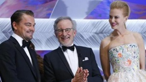 Actor Leonardo DiCaprio (L), Jury President Steven Spielberg (C) and Jury member of the 66th Cannes Film Festival actress Nicole Kidman attend the opening ceremony of the 66th Cannes Film Festival in Cannes May 15, 2013. The Cannes Film Festival runs from May 15 to May 26. REUTERS/Yves Herman