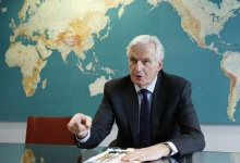 European Commissioner for Internal Market and Services Michel Barnier answers reporters' questions during an interview with Reuters at the EU Commission headquarters in Brussels February 28, 2013.  REUTERS/Francois Lenoir  