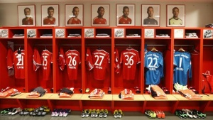 The dressing room of Bayern Munich is photographed prior to their German first division Bundesliga soccer match against Augsburg in Munich, May 11, 2013.  REUTERS/Kai Pfaffenbach