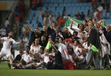 Iran's national soccer team celebrate after defeating South Korea in their World Cup qualifying soccer match in Ulsan, southeast of Seoul June 18, 2013. REUTERS/Kim Hong-Ji