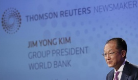 World Bank President Jim Yong Kim attends a Thomson Reuters Newsmaker event, at Canary Wharf in east London June 19, 2013.  REUTERS/Stefan Wermuth