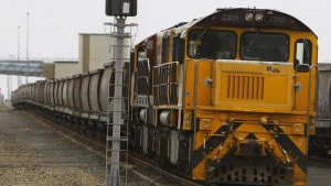 An empty coal train sits on the tracks at the Port of Brisbane January 15, 2011. REUTERS/Mick Tsikas/Files
