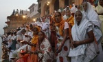 Vrindavan widows celebrate Diwali