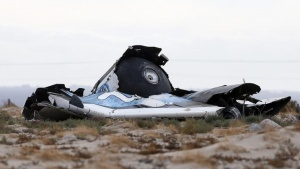 A piece of debris is seen near the scene of the crash of Virgin Galactic's SpaceShipTwo near Cantil, California October 31, 2014. REUTERS/Lucy Nicholson