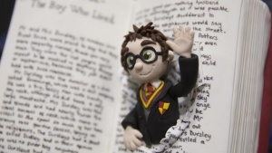 "A cake decorated as the children's book character ""Harry Potter"" is displayed at the Cake and Bake show in London, Britain October 3, 2015. REUTERS/Neil Hall"