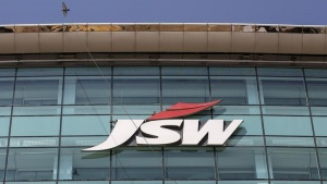The logo of JSW is seen on the company's headquarters in Mumbai, February 11, 2016. REUTERS/Danish Siddiqui/Files