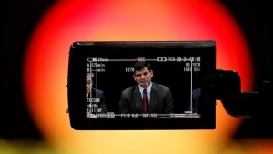 Reserve Bank of India (RBI) Governor Raghuram Rajan is seen in a TV camera's viewfinder as he attends a news conference after the bimonthly monetary policy review in Mumbai, India June 7, 2016. REUTERS/Danish Siddiqui