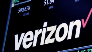 The ticker and trading information for Verizon is displayed on a screen at the post where it is traded on the floor of the New York Stock Exchange (NYSE) in New York City, U.S. June 9, 2016. REUTERS/Brendan McDermid/Files