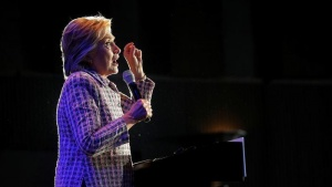 U.S. Democratic presidential candidate Hillary Clinton rallies campaign volunteers in Charlotte, North Carolina, U.S. July 25, 2016.  REUTERS/Brian Snyder