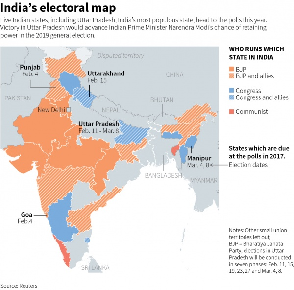 India's electoral map