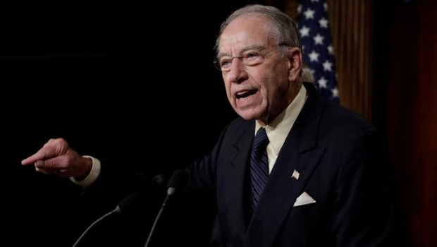 U.S. Senate Judiciary Committee Chairman Senator Chuck Grassley (R-IA) speaks during a news conference to discuss the FBI background investigation into the assault allegations against U.S. Supreme Court nominee Judge Brett Kavanaugh on Capitol Hill in Washington, U.S., October 4, 2018. REUTERS/Yuri Gripas