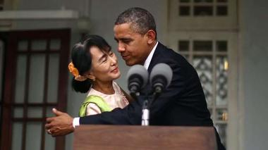 Obama and Suu Kyi's embrace - Rough Cuts