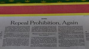 NY Times editorial calls for a repeal of marijuana