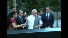 Indian PM Modi pays tribute at 9/11 memorial in New York