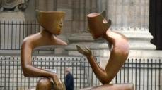 Paris streets become gallery for Plato-inspired sculptures