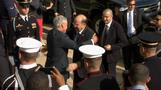 Hagel welcomes Israel's Defense Minister to the Pentagon