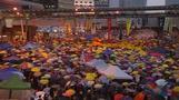 Umbrella rally marks one month of Hong Kong protests