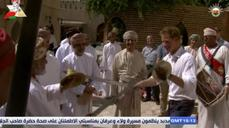 Britain's Prince Harry dances with swords in Oman