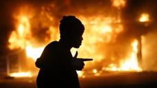 Ferguson - reflections of protest mayhem