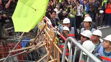 Iconic protest site dismantled in Hong Kong