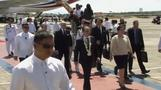 French President Francois Hollande arrives in Manila for two-day state visit