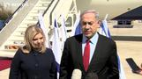 Tensions high as Israeli leader flies to U.S