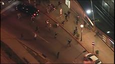 Baltimore protest turns violent