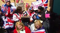 Royal baby superfan celebrates birthday outside hospital