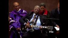 Blues guitarist B.B. King in hospice