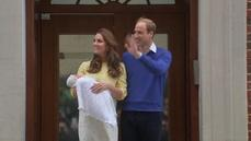 British royal couple presents new baby to the world