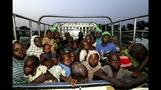 People rescued from Boko Haram arrive at Nigerian camp