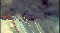 Tanker truck overturns on NJ turnpike