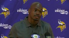 "NFL's Adrian Peterson on his return: ""It felt good"""