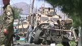 Bomber hits NATO convoy in Afghanistan