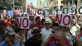"Spaniards show of support for ""No"" vote in Greece"