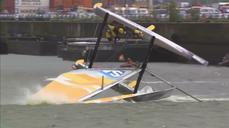 Sail boat capsize caught on camera