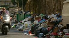 Piles of trash overwhelm Beirut, cause protests
