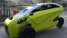Two-seat car electrifies Chile streets