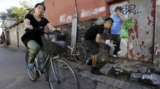 Beijing's crumbling buildings become a canvas