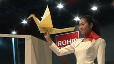 Magic mirrors and flying origami feature at Japan tech fair