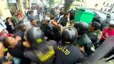 Peruvian police clash with workers as labour strike rolls on