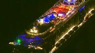 Battered cruise ship returns to port