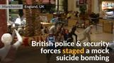 Explosions, gunfire rock British shopping center in mock drill
