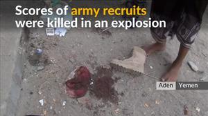 At least 40 army recruits killed in a suicide car bombing in Yemen