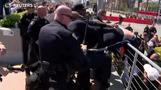 Dozens arrested at anti-Trump protest in California
