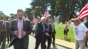 Sanders salutes troops with Memorial Day visit to cemetary