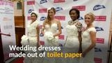 Would you wear a wedding gown made out of toilet paper?