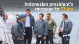 Indonesia's president asserts authority with South China Sea visit