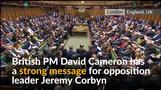'For heaven's sake man, go!' UK's Cameron tells opposition leader